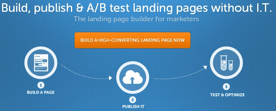 Unbounce smacks their visitors with it the moment they land land: the 3 steps right below their headline.